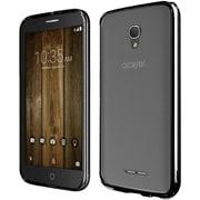 Insten Gel Cover Case For Alcatel One Touch Allura/Fierce 4/Pop 4+ - Clear/Black