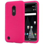 Insten Rugged Silicone Rubber Case For LG Aristo / LV3 - Hot Pink