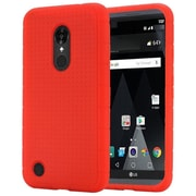 Insten Rugged Gel Rubber Cover Case For LG Aristo / LV3 - Red