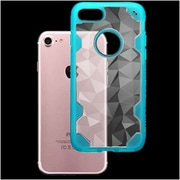 Insten Hard TPU Cover Case For Apple iPhone 7 - Clear/Light Blue