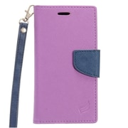 Insten PU Leather Wallet Flip Pouch Credit Card Stand Cover Case For ZTE Grand X 4 - Purple