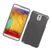 Insten Carbon Fiber Hard Case For Samsung Galaxy Note 3 - Dark Gray