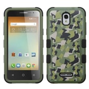 Insten Tuff Camouflage Hard Hybrid Rubberized Silicone Cover Case For Alcatel One Touch Elevate - Green/Black