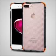 Insten Rubber Case For Apple iPhone 7 Plus - Gray/Orange