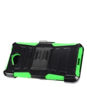 Insten Stand Dual Layer Hybrid Case with Holster For Microsoft Lumia 650 - Black/Green