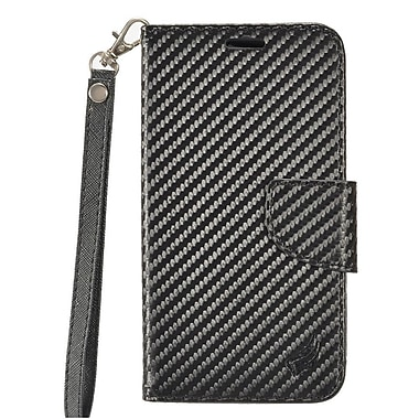 Insten PU Leather Wallet Flip Pouch Credit Card Stand Cover Case For LG V20 - Carbon Fiber
