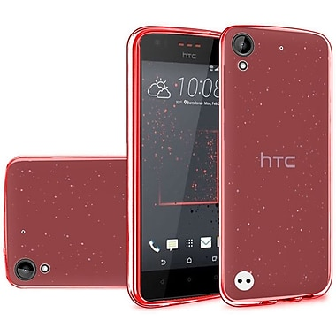 Insten Frosted TPU Rubber Case For HTC Desire 530 - Red