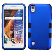 Insten Tuff Hard Dual Layer Rubber Coated Silicone Cover Case For LG X Style / Tribute HD - Dark Blue/Black