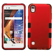 Insten Tuff Hard Dual Layer Silicone Case For LG X Style / Tribute HD - Red/Black