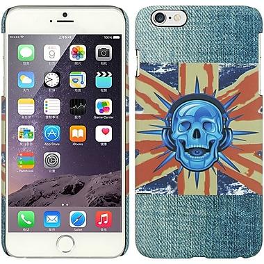 Insten Jeans Hard Rubber Cover Case for Apple iPhone 6s Plus / 6 Plus - Skull