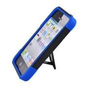 Insten Hard Hybrid Plastic Silicone Case with stand for iPhone 5S 5 - Black/Blue
