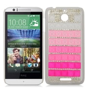 Insten Hard 3D Diamond Cover Case For HTC Desire 510 - Pink/Silver