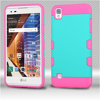 Insten Hard Dual Layer TPU Cover Case For LG Tribute HD / X STYLE - Teal/Pink