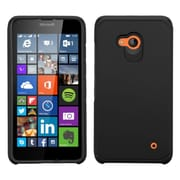 Insten Hard Dual Layer Rubber Coated Silicone Cover Case For Microsoft Lumia 640 - Black