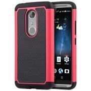Insten Grippy Hybrid PC TPU Shockproof Dual Layer Case For ZTE Axon 7 - Black/Hot Pink