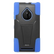 Insten Hard Dual Layer Plastic Silicone Case with stand For Nokia Lumia 830 - Blue