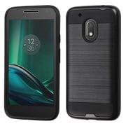 Insten Hard Hybrid TPU Cover Case For Motorola Moto G4 Play - Black
