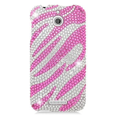 Insten Zebra Hard Bling Case For HTC Desire 510 - Hot Pink/Silver