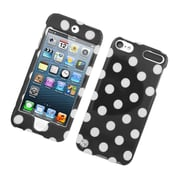 Insten Polka Dots Hard Plastic Case for iPod Touch 5th Gen - Black/White