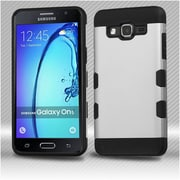 Insten Hard Hybrid TPU Case For Samsung Galaxy On5 - Silver/Black