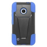 Insten Hard Hybrid Plastic Silicone Case with stand For Nokia Lumia 530 - Blue