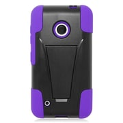 Insten Hard Hybrid Plastic 2-Layer Case with stand For Nokia Lumia 530 - Purple