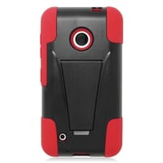 Insten Hard Hybrid Plastic Silicone Case with stand For Nokia Lumia 530 - Red