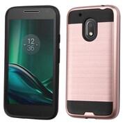 Insten Hard Hybrid TPU Case For Motorola Moto G4 Play - Rose Gold/Black