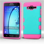 Insten Hard Hybrid TPU Cover Case For Samsung Galaxy On5 - Teal/Pink