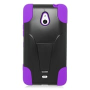 Insten Hard Dual Layer Plastic Silicone Case with stand For Nokia Lumia 1320 - Purple