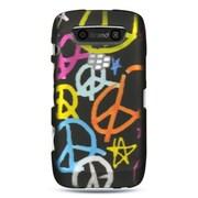 Insten Hard Rubber Cover Case For BlackBerry Torch 9850/9860 - Black/Orange
