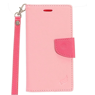 Insten PU Leather Wallet Flip Pouch Credit Card Stand Cover Case For ZTE Tempo - Pink