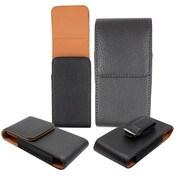 "Insten Black Premium Vertical Pouch w/ Elastic Cover Bag Case For Apple iPhone 6 4.7"" inch"
