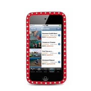 Insten Soft Rubber Cover Case w/Diamond For Apple iPod Touch 4th Gen - Red
