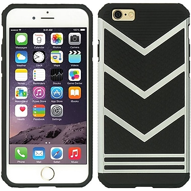 Insten Hard Hybrid TPU Cover Case for Apple iPhone 6s Plus / 6 Plus - Black/Silver