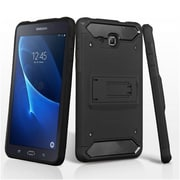 Insten Kinetic Hybrid Hard PC/TPU Dual Layer Shockproof Case For Samsung Galaxy Tab A 7 - Black