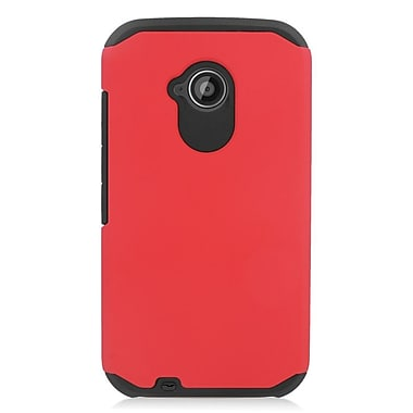 Insten Hard Dual Layer Hybrid Case For Motorola Moto E(2nd Gen) - Red/Black