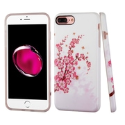 Insten Spring Flowers TPU Cover Case For Apple iPhone 7 Plus - Pink/White
