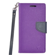Insten PU Leather Wallet Flip Pouch Credit Card Stand Cover Case For ZTE Tempo - Purple