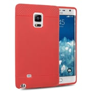 Insten Rubber Cover Case For Samsung Galaxy Note Edge - Red