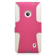 Insten Astronoot Hard Hybrid TPU Case For Nokia Lumia 521 - Hot Pink/White