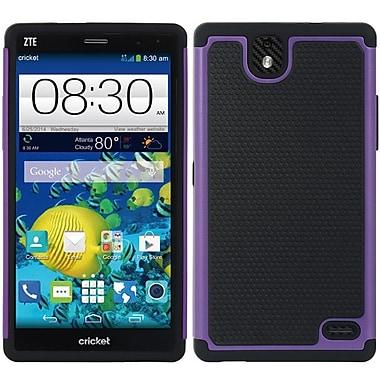 Insten Grippy Hybrid PC TPU Shockproof Dual Layer Case For ZTE Grand X Max+ - Black/Purple