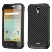 Insten Carbon Fiber Hard Hybrid Rugged Shockproof Silicone Cover Case For Alcatel One Touch Elevate - Black