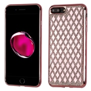 Insten Hard Diamond TPU Cover Case For Apple iPhone 7 Plus - Rose Gold