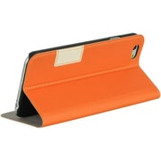 Insten Book-Style Leather Fabric Case w/stand/card slot for Apple iPhone 6 / 6s - Orange