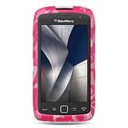 Insten Hard Rubberized Case For BlackBerry Torch 9850/9860 - Hot Pink