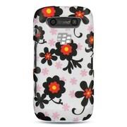 Insten Hard Rubber Coated Cover Case For BlackBerry Torch 9850/9860 - White/Black
