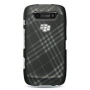 Insten Hard Rubber Cover Case For BlackBerry Torch 9850/9860 - Black/White