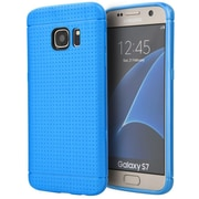 Insten Dots Rubber Cover Case For Samsung Galaxy S7 - Blue