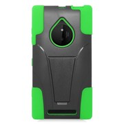 Insten Hard Hybrid Plastic 2-Layer Case with stand For Nokia Lumia 830 - Green